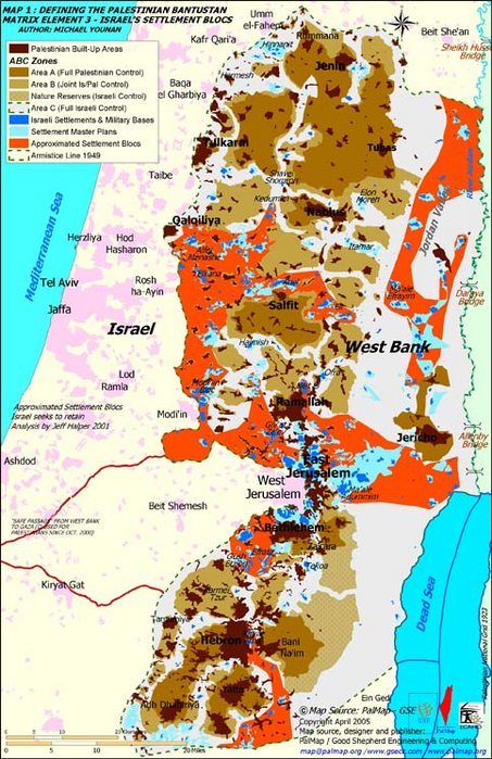 Japan israeli settlements and the future of a palestinian state 2005 map of israels settlements in the west bank gumiabroncs Image collections