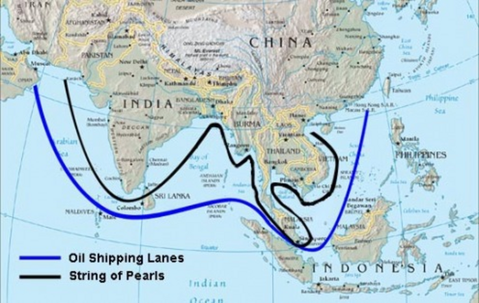 Chinas Naval Expansion In The Indian Ocean And IndiaChina - Map of us naval bases around the world