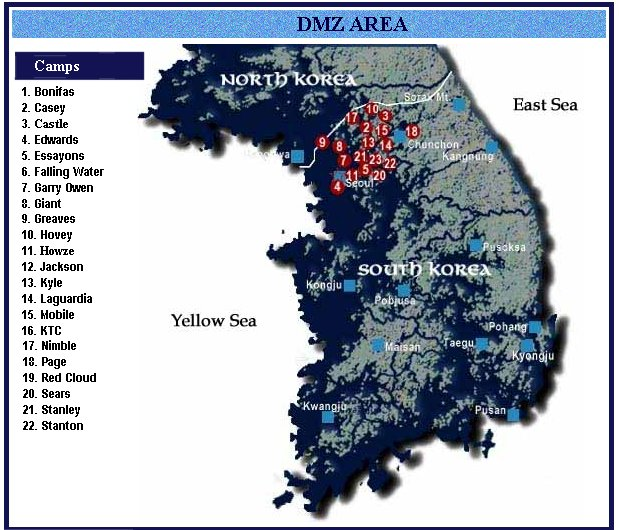 U S Bases In South Korea