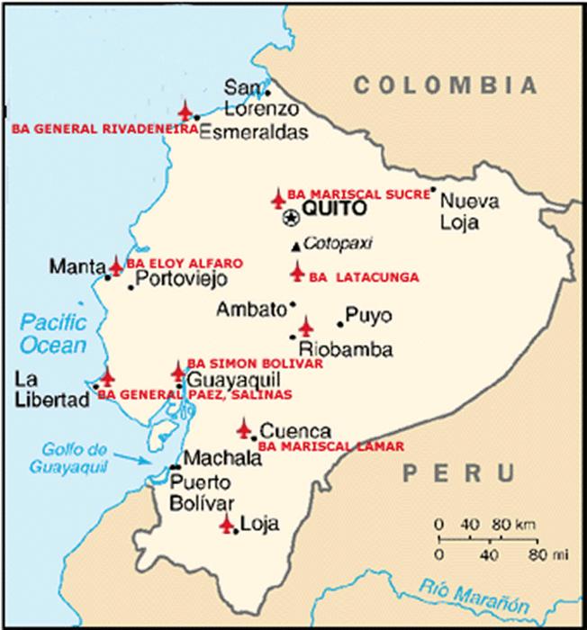 The Us Base Was Located At Manta Ecuador