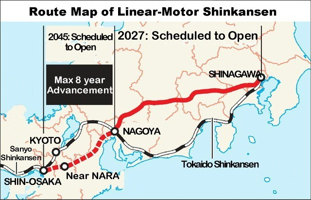 End Game For Japans Construction State The Linear Maglev - Japan map shinkansen