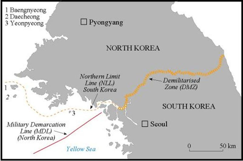 Theatre Of War And Prospects For Peace On The Korean Peninsula On - Us government map nll