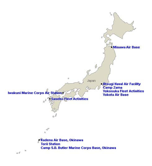 Living With The Nightmare Of Planes And Aircraft Carriers At US - Us naval bases in japan map