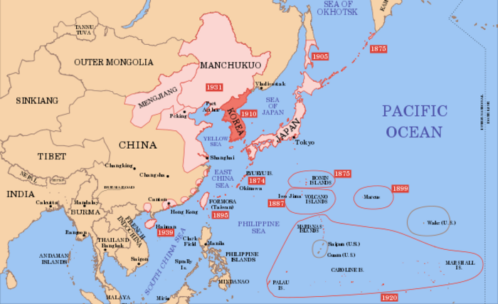 1939 Map Shows Korea In The Japanese Empire