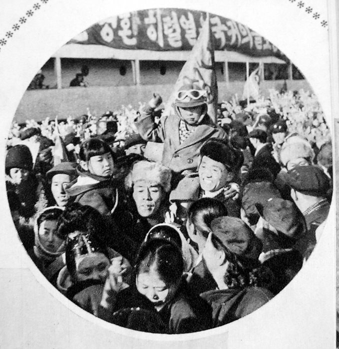 Repatriates arriving in Cheongjin