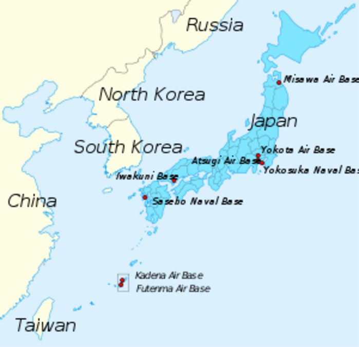 Map Of Okinawa And The Marine Corps And Air Force Bases In Japan - Us air force bases in japan map