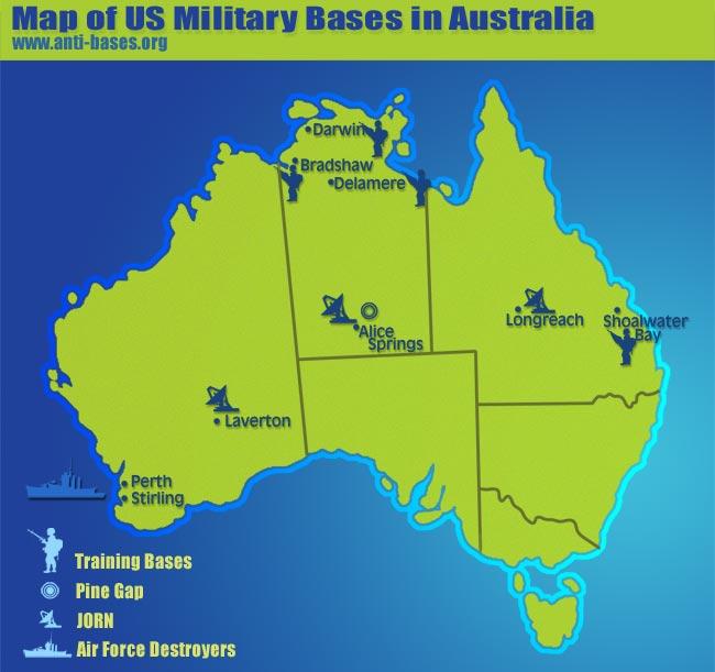 Australias Expansive Asian Security Footprint The Defence - Australia us map