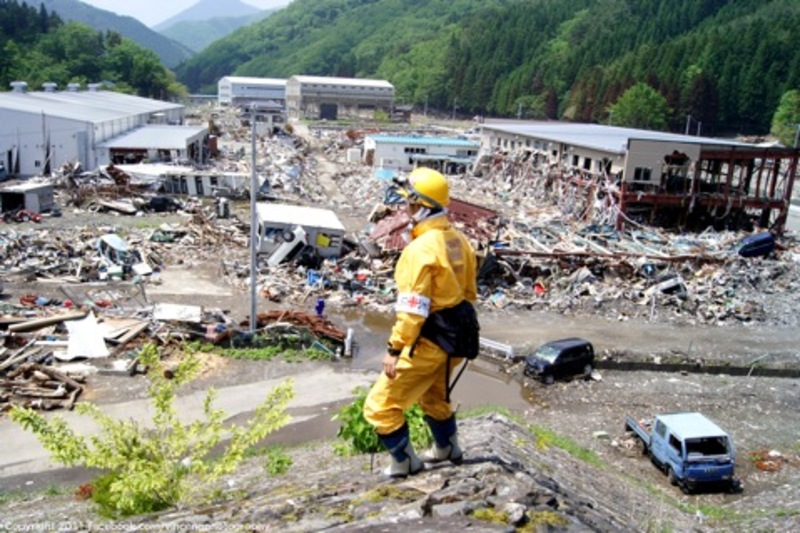 Volunteer response teams enter a small town in Iwate Prefecture (Photo © 1911 by Vince Ng