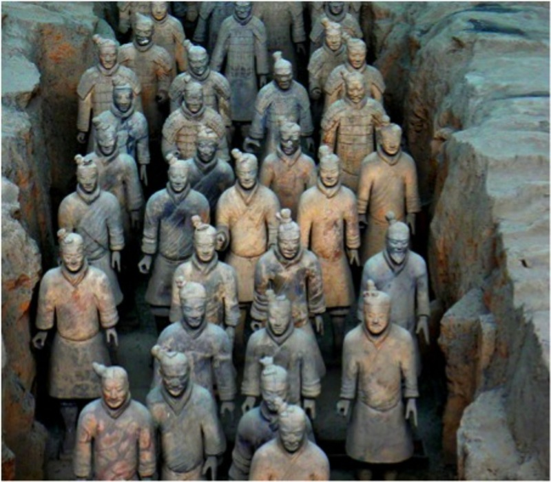 Terracotta Warriors in the tomb of the first Qing emperor