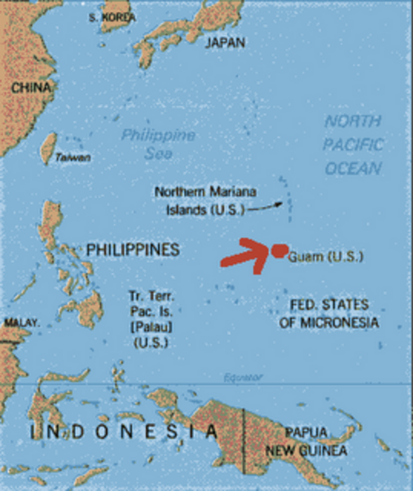 Fortress Guam Resistance To US Military MegaBuildup The Asia - Us army strip map