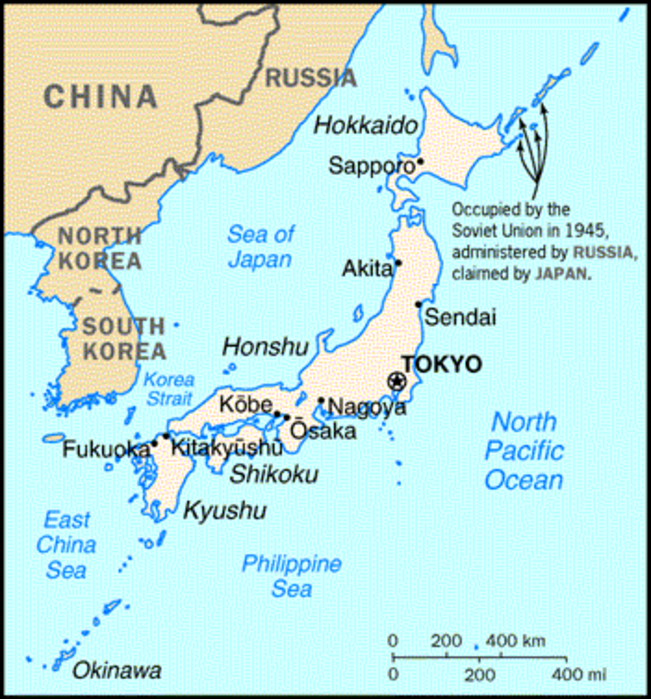 American Base Town in Northern Japan US and Japanese Air Forces