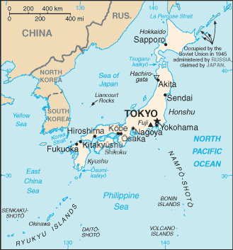 Dangerous Islands Japan Korea And The United States The Asia - Japan map labeled