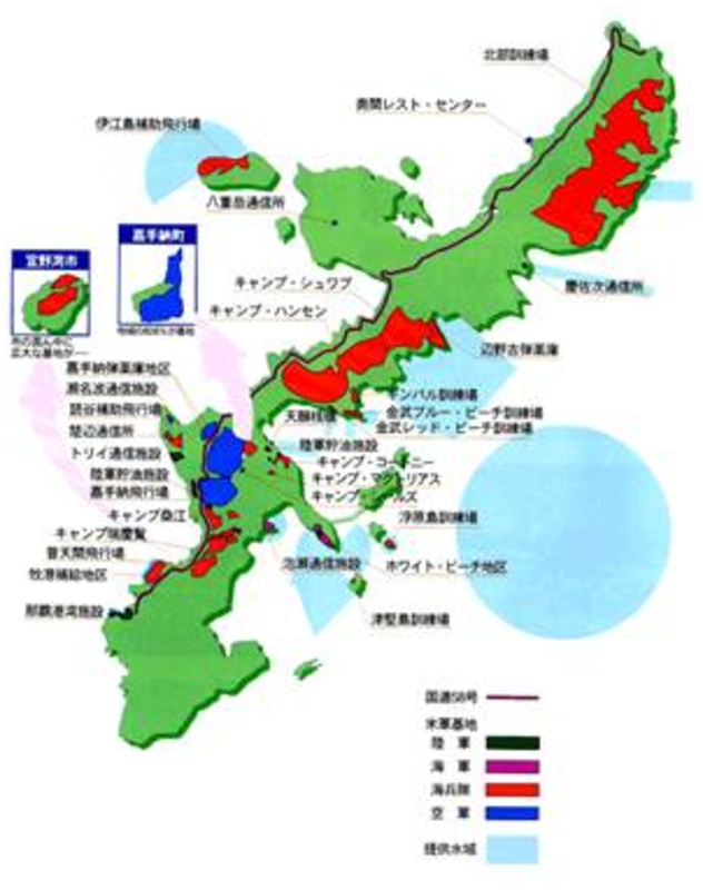 Futenma Tip Of The Iceberg In Okinawas Agony The Asia - Us military bases in okinawa map