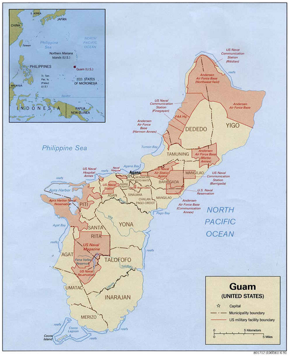 US Military Bases On Guam In Global Perspective The AsiaPacific - Us military bases in okinawa map
