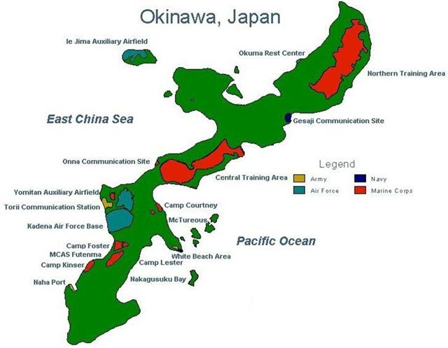 Okinawan Bases The United States And Environmental Destruction - Us air force bases in japan map