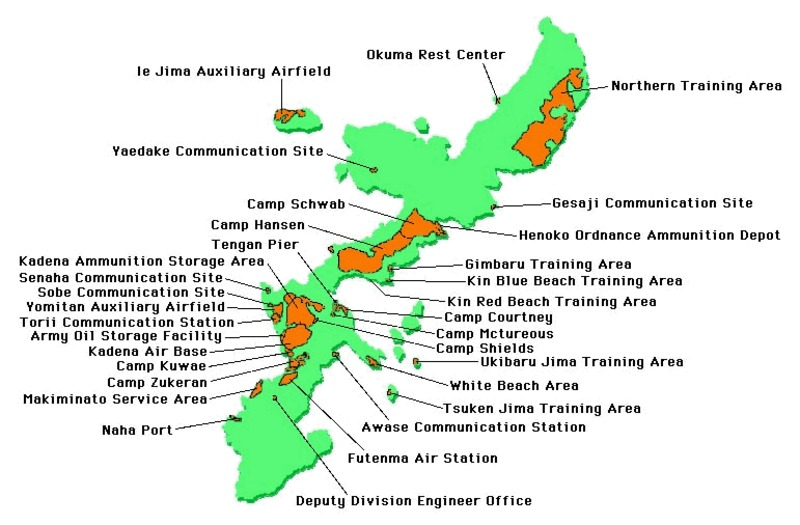 55c730c5b4 Left: U.S. Bases in Japan as of 2011. Right: Bases in Okinawa as of 2012.