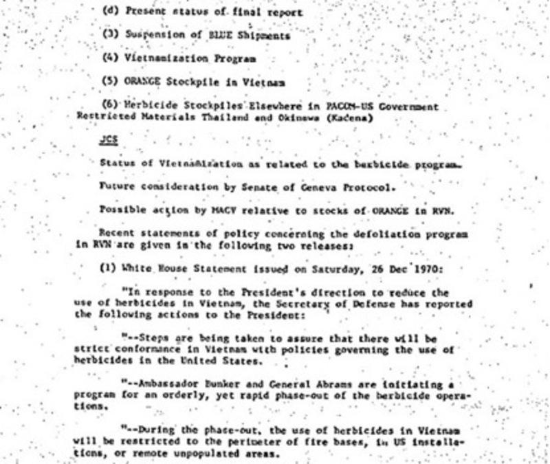 "Herbicide Stockpile"" at Kadena Air Base, Okinawa: 1971 U S  Army"