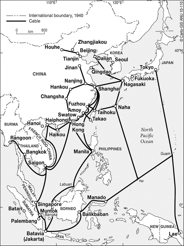 japan s new empire and the d mei news agency in occupied southeast Natural Resources of South Asia cable network in asia and western pacific 1940 source daniel r headrick the invisible weapon tele munication and international politics