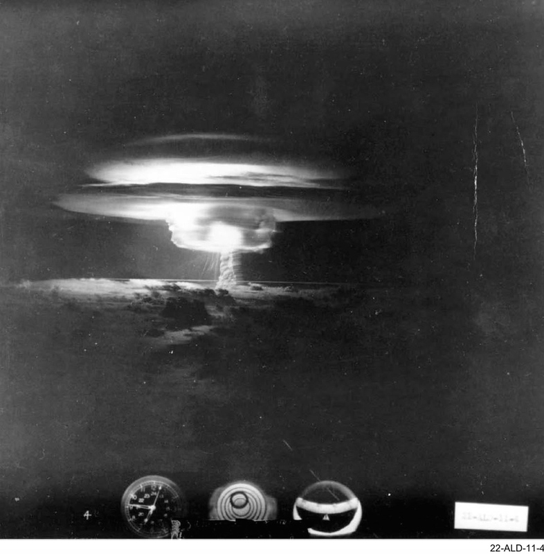 The asia pacific journal japan focus mushroom cloud of the bravo test photographed 62 seconds after detonation from 50 nautical miles north at 10000 feet source kunkle and ristvet publicscrutiny Choice Image