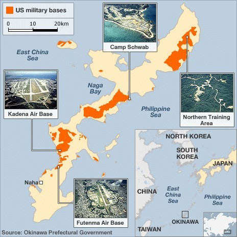 Contamination At Largest US Air Force Base In Asia Kadena - Us Air Force Bases In Japan Map