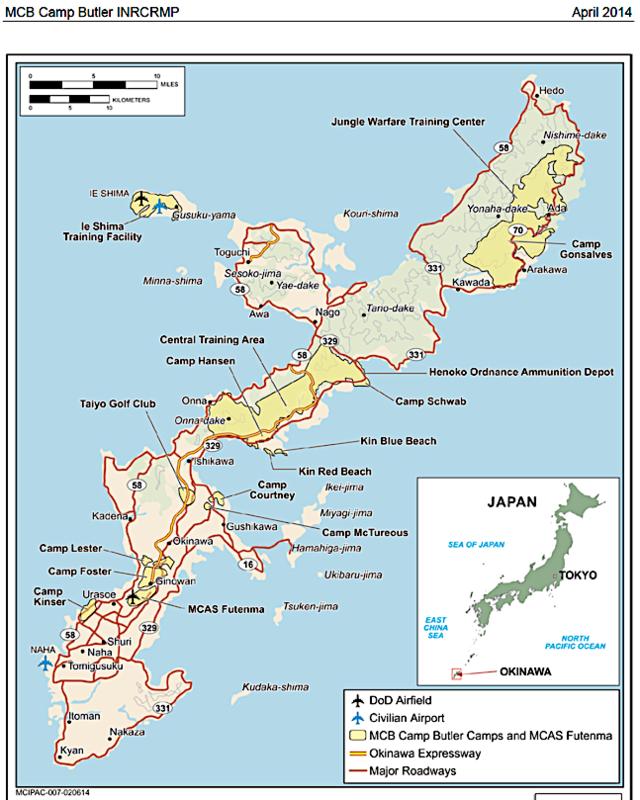 Major USMC installations on Okinawa April 2014. 78091d689