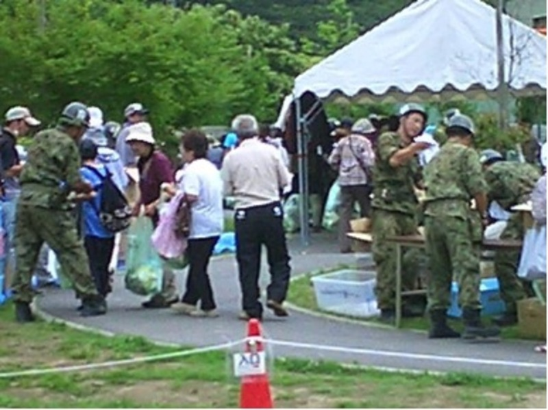 Japan Self Defense Force (JSDF) providing relief for disaster survivors, Miyagi Prefecture, Japan, July, 2012
