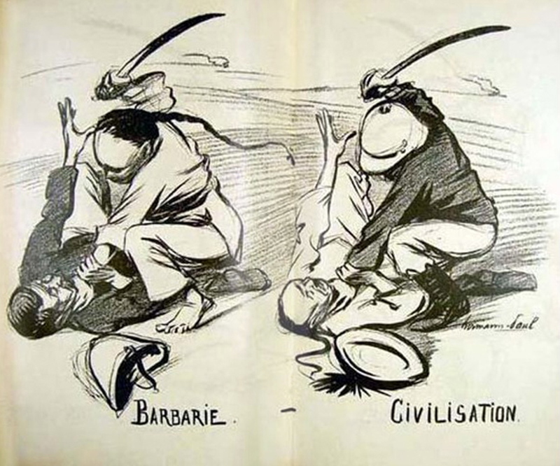 """Civilization & Barbarism: Cartoon Commentary & """"The White"""