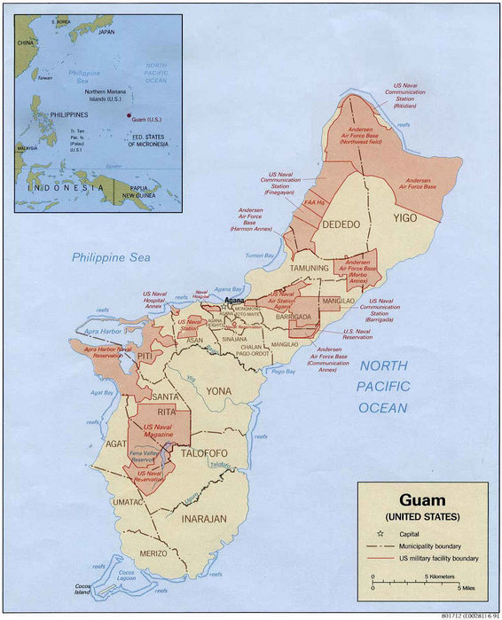 Fortress Guam Resistance To US Military MegaBuildup The Asia - Us Air Force Bases In Japan Map