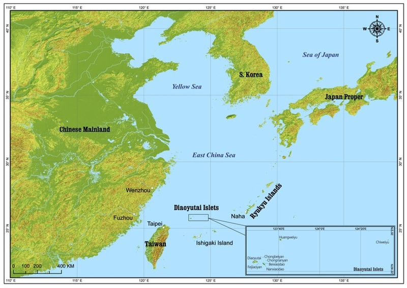 diaoyutai islets in the east asian seas