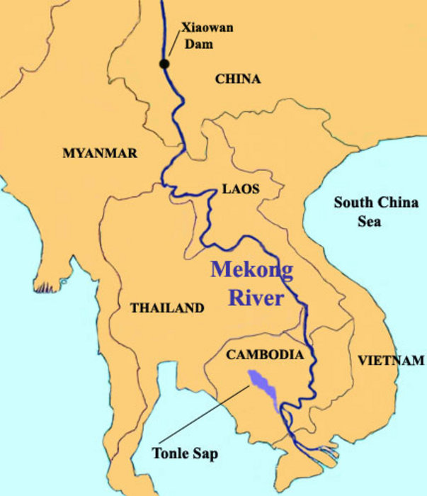 The Mekong River Under Threat The AsiaPacific Journal Japan Focus - Rivers of vietnam map