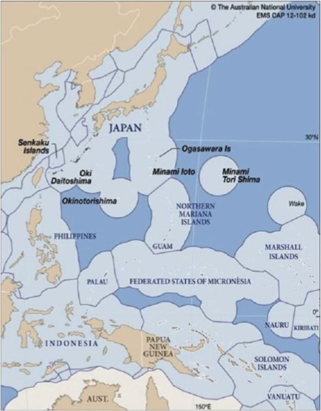 china korea and western pacific eezs source the asia pacific journal